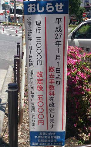 駅前の立て看板