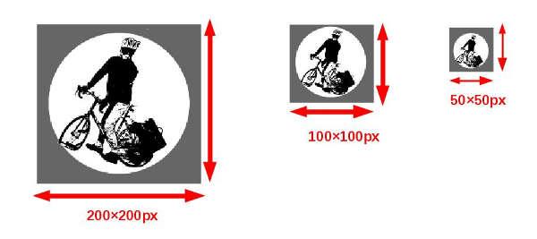 画像を3種類アップロードしておく