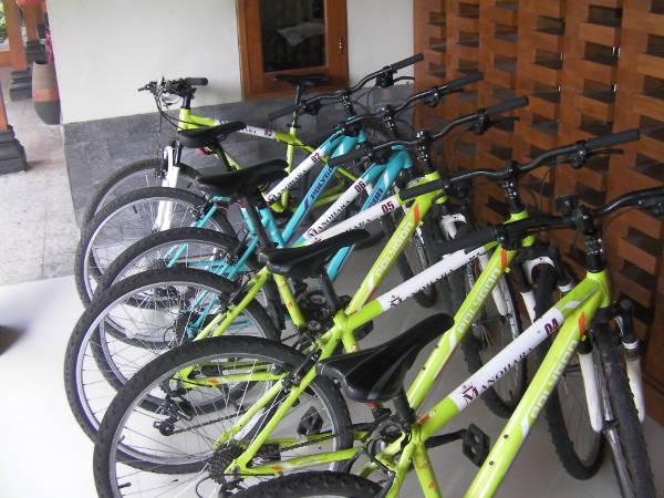 ホテルのレンタル自転車を借りる
