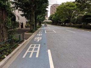 白山通り自転車レーン1