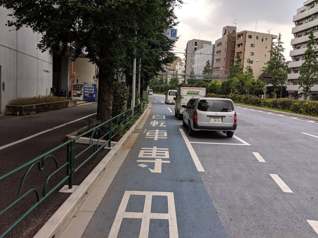白山通り自転車レーン3