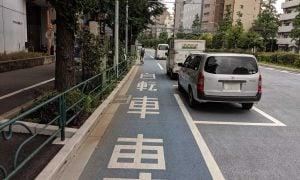 白山通り自転車レーン