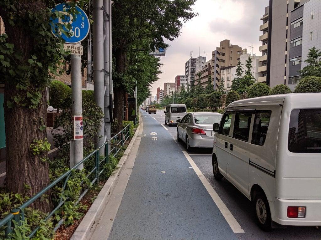 白山通り自転車レーン6