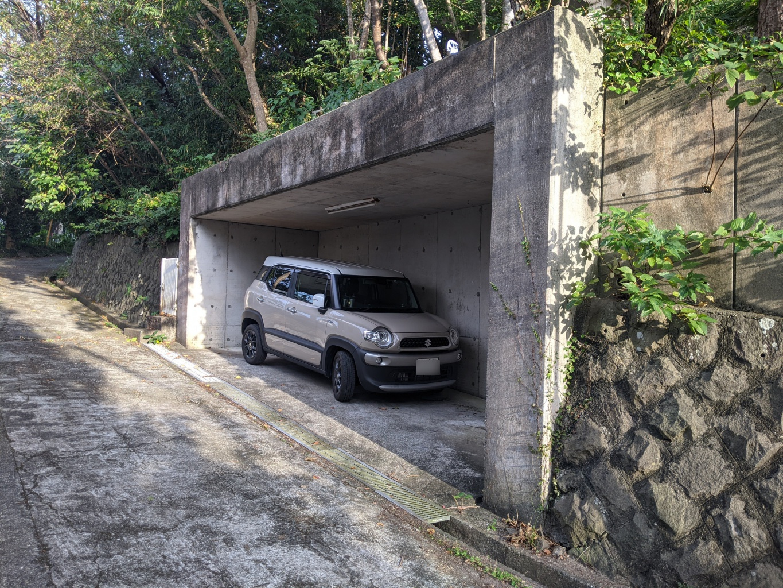 真下にある第一駐車場